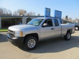 2013 Silver Ice Metallic Chevrolet Silverado 1500 Work Truck Extended Cab 4x4 #73347620