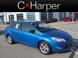 2012 Blue Candy Metallic Ford Focus SE Sport Sedan #73347456