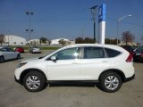 2013 White Diamond Pearl Honda CR-V EX-L AWD #73348042