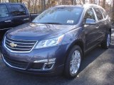 2013 Atlantis Blue Metallic Chevrolet Traverse LT AWD #73347440