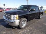 2013 Black Chevrolet Silverado 1500 LS Crew Cab 4x4 #73347935