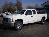 2013 Summit White Chevrolet Silverado 1500 LS Extended Cab 4x4 #73408698