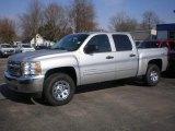 2012 Silver Ice Metallic Chevrolet Silverado 1500 LS Crew Cab 4x4 #73408692