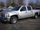 2012 Silver Ice Metallic Chevrolet Silverado 1500 LT Crew Cab #73408688