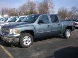 2012 Blue Granite Metallic Chevrolet Silverado 1500 LT Crew Cab 4x4 #73408687