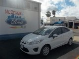 2013 Oxford White Ford Fiesta S Sedan #73408426