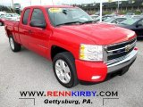 2008 Victory Red Chevrolet Silverado 1500 LT Extended Cab 4x4 #73408571