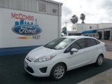 2013 Oxford White Ford Fiesta S Sedan #73408424
