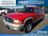 2004 Flame Red Dodge Dakota SLT Club Cab #73408602