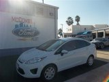 2013 Oxford White Ford Fiesta S Sedan #73408407