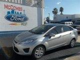 2013 Ingot Silver Ford Fiesta S Sedan #73408406