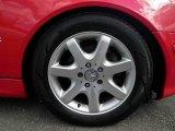 Mercedes-Benz SLK 2002 Wheels and Tires