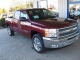 2013 Deep Ruby Metallic Chevrolet Silverado 1500 LT Crew Cab #73441027
