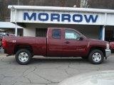 2013 Deep Ruby Metallic Chevrolet Silverado 1500 LT Extended Cab 4x4 #73440523