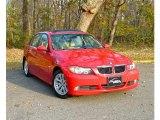 2006 Electric Red BMW 3 Series 325xi Sedan #73440906