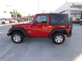 2012 Flame Red Jeep Wrangler Sport 4x4 #73440811