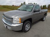 2013 Graystone Metallic Chevrolet Silverado 1500 LS Regular Cab #73440894