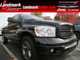 2008 Brilliant Black Crystal Pearl Dodge Ram 1500 Sport Quad Cab #73440570