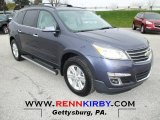 2013 Atlantis Blue Metallic Chevrolet Traverse LT #73440857