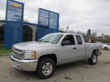2013 Silver Ice Metallic Chevrolet Silverado 1500 LT Extended Cab 4x4 #73484662