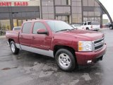 2008 Deep Ruby Metallic Chevrolet Silverado 1500 LTZ Crew Cab 4x4 #73484986
