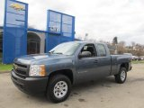 2013 Blue Granite Metallic Chevrolet Silverado 1500 Work Truck Extended Cab 4x4 #73484657