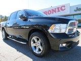 2009 Brilliant Black Crystal Pearl Dodge Ram 1500 Sport Crew Cab #73484768