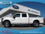 2012 White Platinum Metallic Tri-Coat Ford F250 Super Duty Lariat Crew Cab 4x4 #73484625