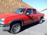 2004 Victory Red Chevrolet Silverado 1500 Z71 Extended Cab 4x4 #73485037