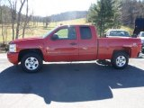 2009 Victory Red Chevrolet Silverado 1500 LT Extended Cab 4x4 #73485033