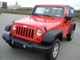 2013 Jeep Wrangler Rock Lobster Red