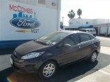 2013 Violet Gray Ford Fiesta S Sedan #73484585