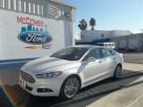 2013 White Platinum Metallic Tri-coat Ford Fusion SE 1.6 EcoBoost #73484584