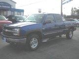 2004 Arrival Blue Metallic Chevrolet Silverado 1500 Z71 Extended Cab 4x4 #73539069