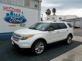 2013 White Platinum Tri-Coat Ford Explorer XLT #73538533