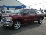 2013 Deep Ruby Metallic Chevrolet Silverado 1500 LT Crew Cab 4x4 #73539059