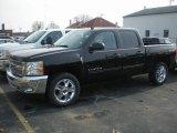 2012 Black Chevrolet Silverado 1500 LT Crew Cab 4x4 #73539054