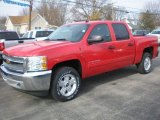 2012 Victory Red Chevrolet Silverado 1500 LT Crew Cab 4x4 #73539053