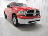 2012 Flame Red Dodge Ram 1500 SLT Quad Cab 4x4 #73538790