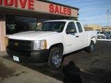 2008 Summit White Chevrolet Silverado 1500 Work Truck Extended Cab 4x4 #73538961