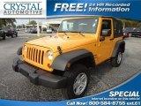 2012 Dozer Yellow Jeep Wrangler Sport 4x4 #73538873