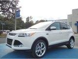 2013 White Platinum Metallic Tri-Coat Ford Escape Titanium 2.0L EcoBoost #73538568