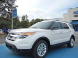 2013 White Platinum Tri-Coat Ford Explorer XLT #73538566
