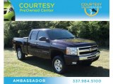 2009 Dark Cherry Red Metallic Chevrolet Silverado 1500 LT Extended Cab 4x4 #73538816
