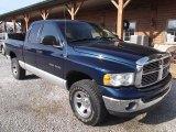 2003 Patriot Blue Pearl Dodge Ram 1500 SLT Quad Cab 4x4 #73581824