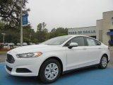 2013 Oxford White Ford Fusion S #73581252