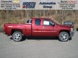 2013 Deep Ruby Metallic Chevrolet Silverado 1500 LT Extended Cab 4x4 #73581343