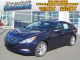 2013 Indigo Night Blue Hyundai Sonata Limited #73581016