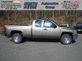 2013 Mocha Steel Metallic Chevrolet Silverado 1500 LS Extended Cab 4x4 #73581331