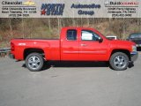 2013 Victory Red Chevrolet Silverado 1500 LT Extended Cab 4x4 #73581329